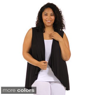24/7 Comfort Apparel Women's Plus Size Sleeveless Shrug (5 options available)