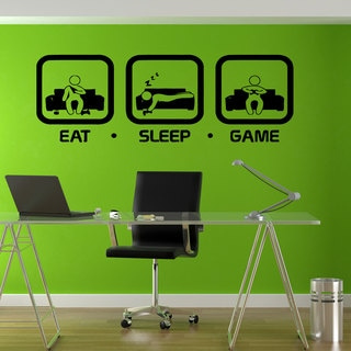 Eat Sleep Game Sticker Vinyl Wall Art