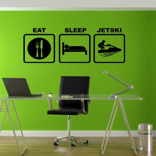 Eat Sleep Watercraft Sticker Vinyl Wall Art