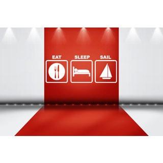 Eat Sleep Sail Sticker Vinyl Wall Art