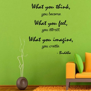 Link to Buddha Quote Sticker Wall Decal Similar Items in Vinyl Wall Art