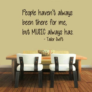 Music Quote Sticker Wall Decal