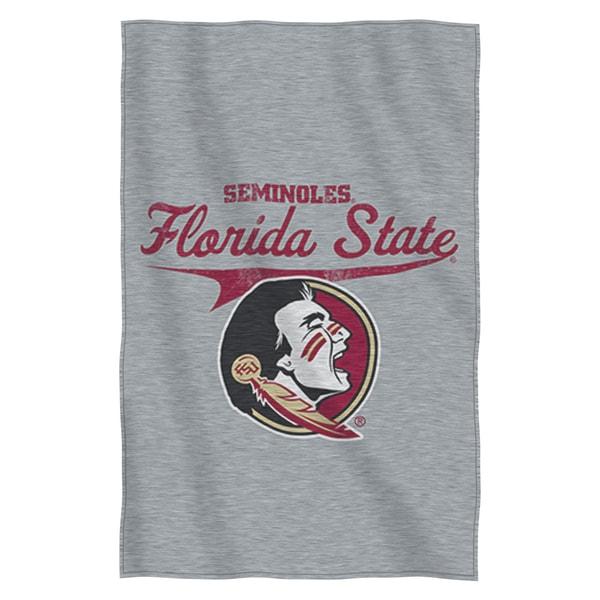 Florida State Sweatshirt Throw Blanket