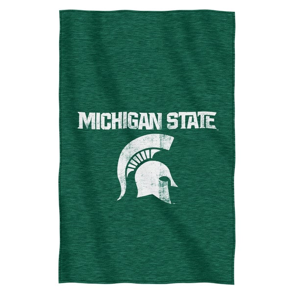Michigan State Sweatshirt Throw Blanket