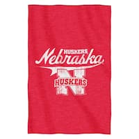 Nebraska Sweatshirt Throw Blanket