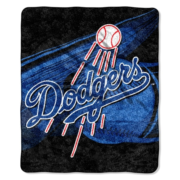 Dodgers Sherpa Throw Blanket