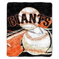 SF Giants Sherpa Throw Blanket