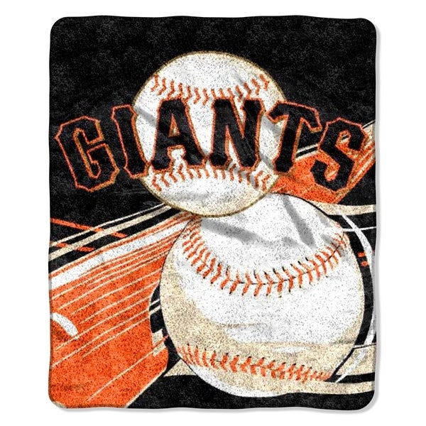 SF Giants Sherpa Throw Blanket