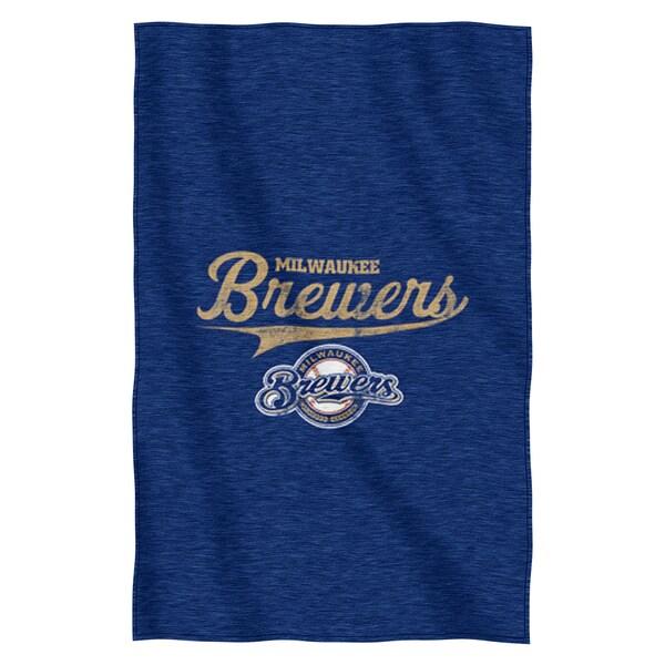 Brewers Sweatshirt Throw Blanket