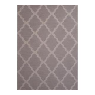 Herat Oriental Indo Hand-tufted Contemporary Design Beige/ Grey Wool Rug (5' x 7')