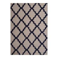Handmade Herat Oriental Indo Contemporary Rug (India) - 5' x 7'
