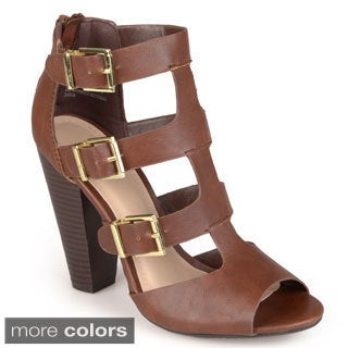 Journee Collection Women's 'Sorrel' Open Toe Cut-out Heels