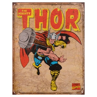 Vintage Metal Art Decorative 'Thor Retro' Tin Sign