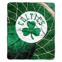 Celtics   Sherpa Throw Blanket Reflect