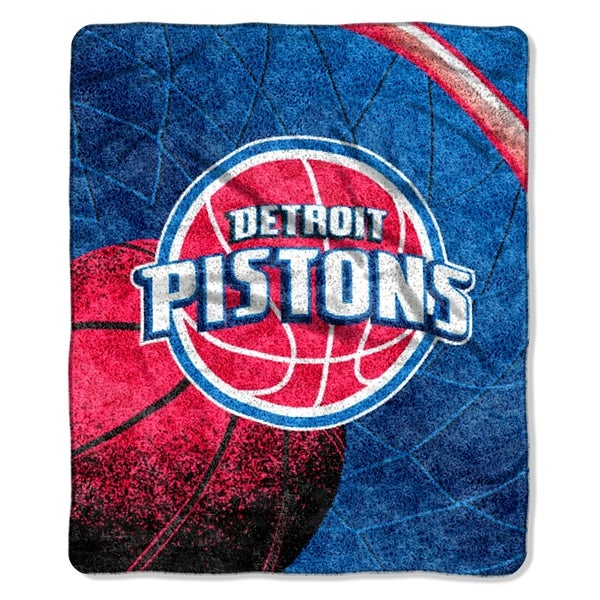 Pistons  Sherpa Throw Blanket Reflect