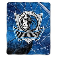 Mavericks   Sherpa Throw Blanket Reflect