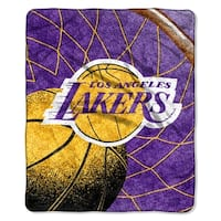 Lakers   Sherpa Throw Blanket Reflect