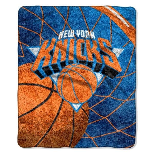 Knicks Sherpa Throw Blanket Reflect