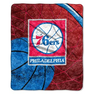 76ers Sherpa Throw Blanket Reflect