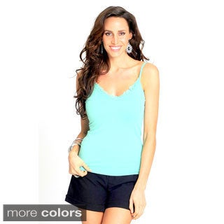 WOMEN LACE DETAIL TANK TOP