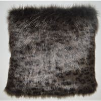 Panther Decorative Feather and Down Filled  Throw Pillow