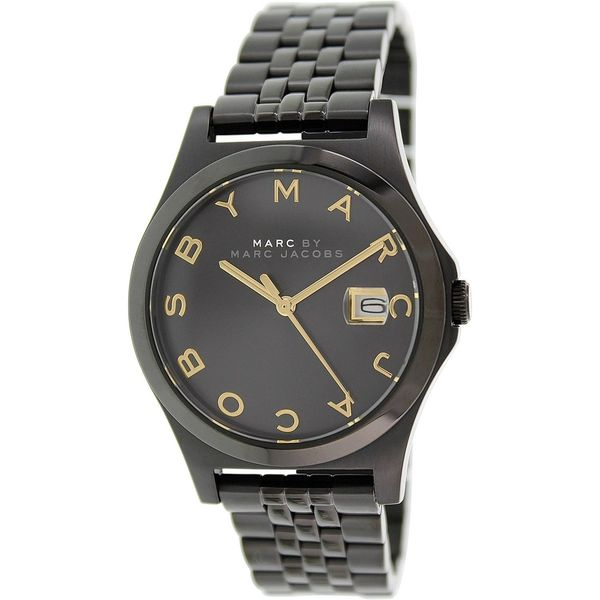 05dcc97b79d58 Shop Marc Jacobs Women's MBM3354 The Slim Round Black Ion-Plated Bracelet  Watch - Free Shipping Today - Overstock - 9998717