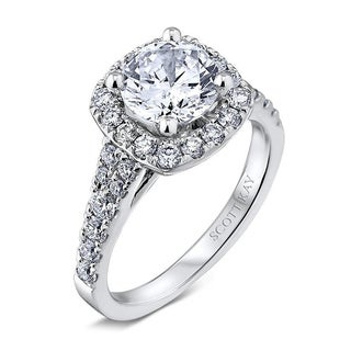 Scott Kay Palladium Silver 1/2ct TDW Diamond Semi Mount Engagement Ring (G-H, VS2)