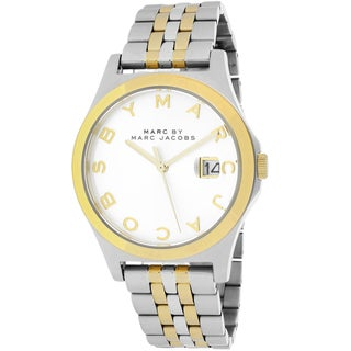 Marc Jacobs Women's MBM3319 The Slim Round Two-tone Bracelet Watch