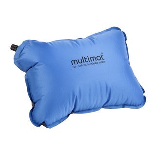 Multimat Camper Pillow, Blue and Charcoal