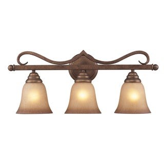 Lawrenceville Mocha Finish 3-light Vanity