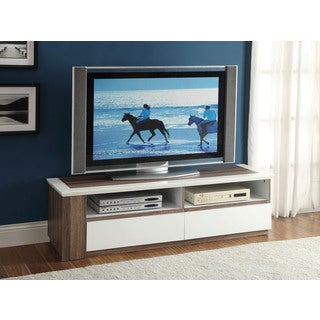 Kilee TV Stand w/Faux Drawers, White