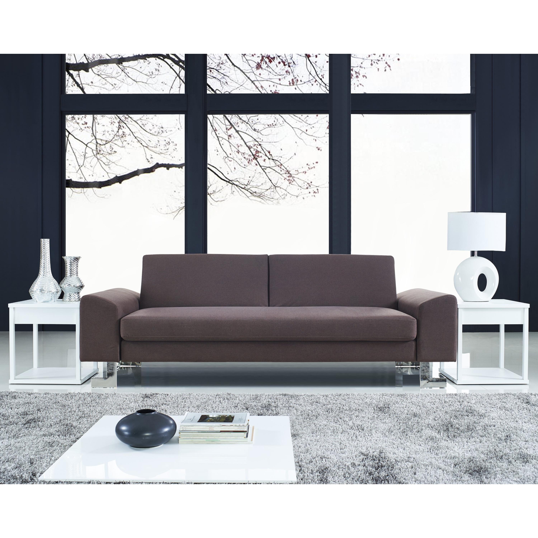 Lumisource Drake Modern Sofa Bed (Brown) (Fabric)