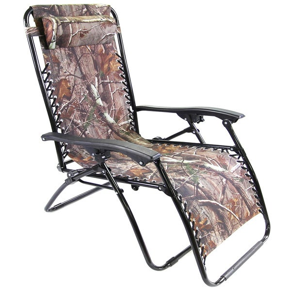 Jordan manufacturing xl camouflage zero gravity chair for Camo chaise lounge