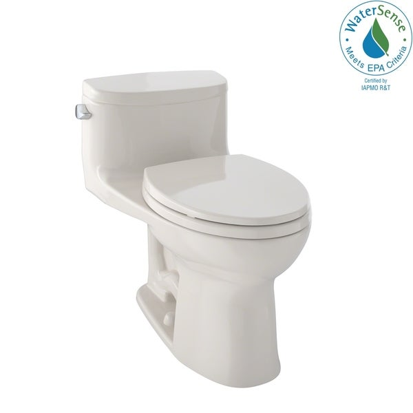Toto Supreme II One-Piece Elongated 1.28 GPF Universal Height Toilet with CeFiONtect, Bone (MS634114CEFG#03)