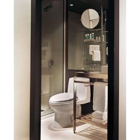 Toto Eco UltraMax One-Piece Round Bowl 1.28 GPF Toilet, Cotton White (MS853113E#01)