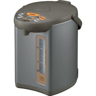 Zojirushi CD-WBC30-TS Silver Brown Micom 3-Liter Water Boiler and Warmer