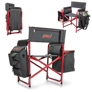 Dark Grey/ Red (Budweiser) Digital Print Fusion Chair