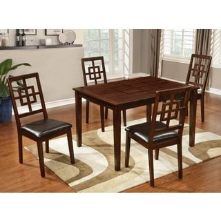 Acacia Wood Medium Pecan 5-piece Dinette set