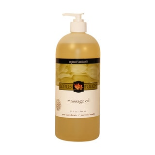 Lotus Touch Organic Naturals Massage Oil 32 Oz