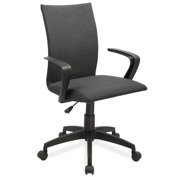 Black Linen Apostrophe Office Chair w/Black Caster Base
