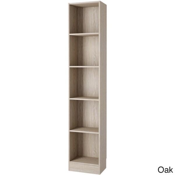 Porch Den Kern Alethea Tall Narrow 5 Shelf Bookcase