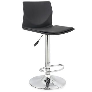 Black Faux Leather Clad Swivel Stool (Set of 2)