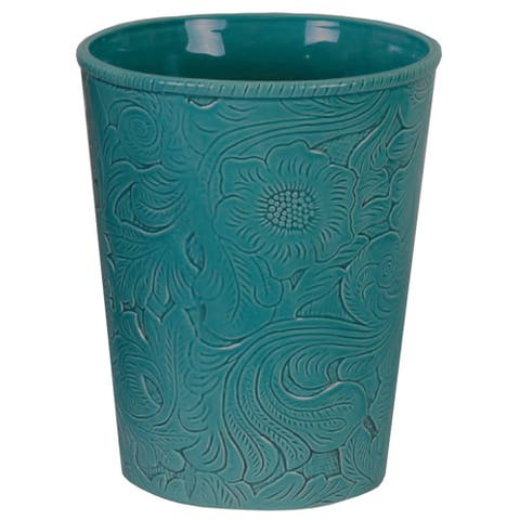 HiEnd Accents Savannah Turquoise Waste Basket