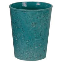 HiEnd Accents Savannah Turquoise Waste Basket
