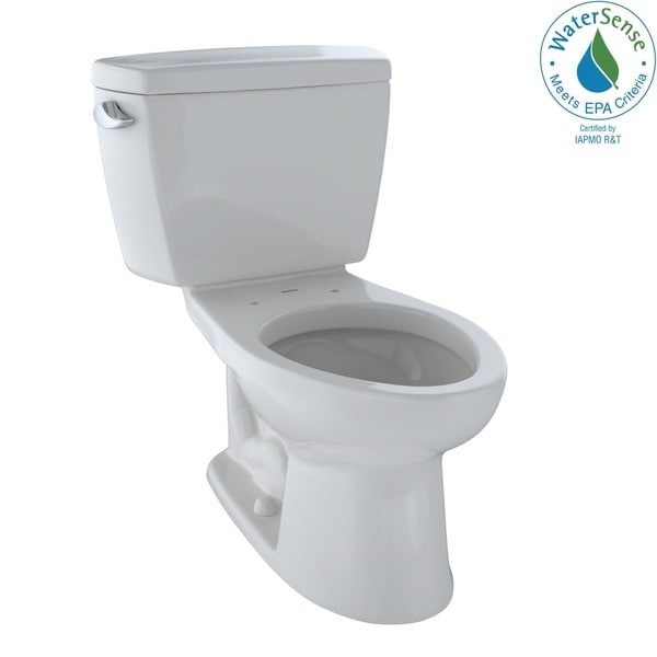 Toto Eco Drake Two-Piece Elongated 1.28 GPF Toilet, Colonial White (CST744E#11)