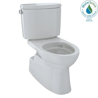 Toto Vespin II 2-Piece Elongated 1.28 GPF Skirted Design Toilet with CeFiONtect, Colonial White (CST474CEFG#11)