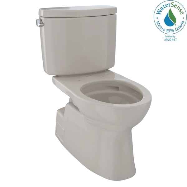 Toto Vespin II Two-Piece Elongated 1.28 GPF Universal Height Skirted Design Toilet with CeFiONtect, Bone (CST474CEFG#03)