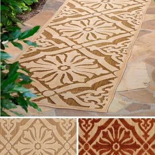 Meticulously Woven Kenny Damask Olefin Rug (2'6 x 7'10)