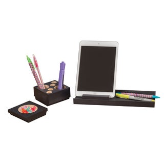 Safco Splash Multi-colored Wood Desk Organizer Set