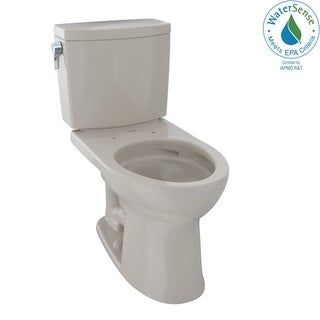 Toto Drake II 1G Two-Piece Elongated 1.0 GPF Universal Height Toilet with CeFiONtect, Bone (CST454CUFG#03)